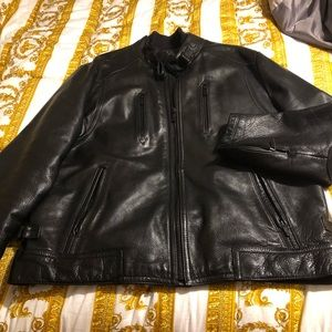 Mans CALVIN KLEIN Leather Coat